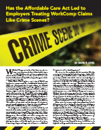 treating work comp claims-like crime scenes article