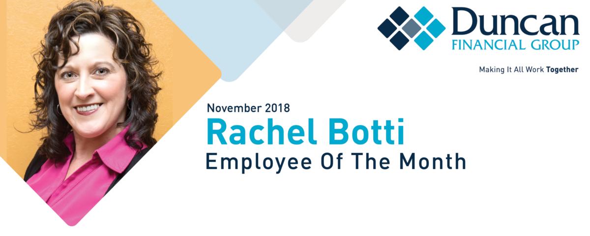 Employee of the Month- Rachel Botti