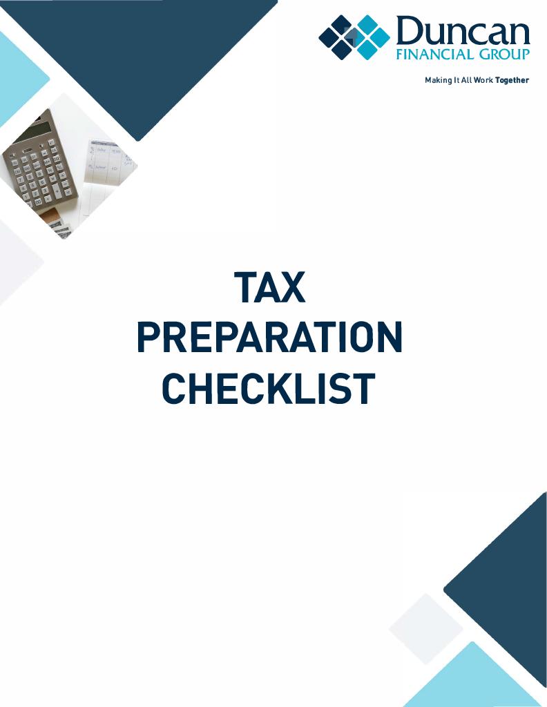 Tax Prep Checklist Cover